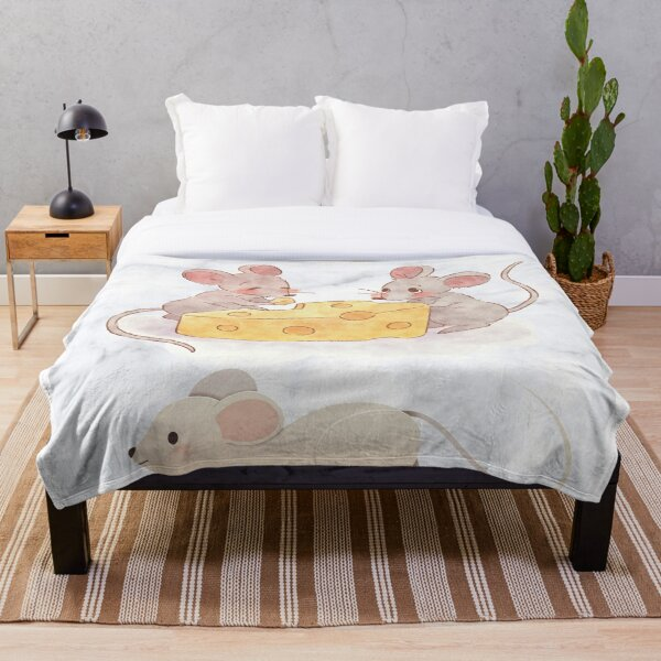 Naughty Mice by Cold Wild Throw Blanket