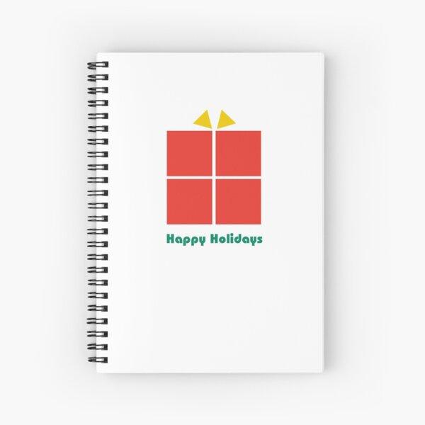 Bauhaus style holiday gift minimalist design Spiral Notebook