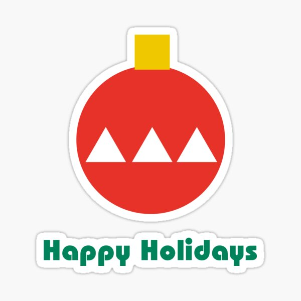 Bauhaus style holiday ornament minimalist design Sticker