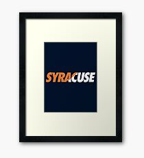 SYRACUSE - SLANT (Orange) Framed Print