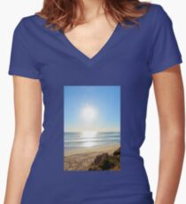 SILVER SEA Women's Fitted V-Neck T-Shirt