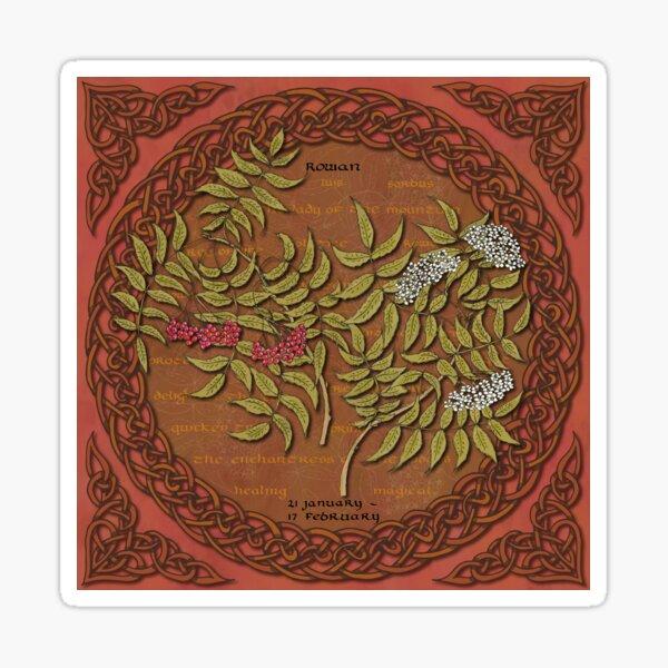 Tree Calendar Rowan Sticker