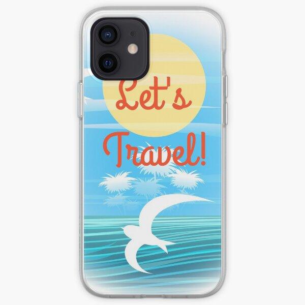 Travel theme iPhone Soft Case