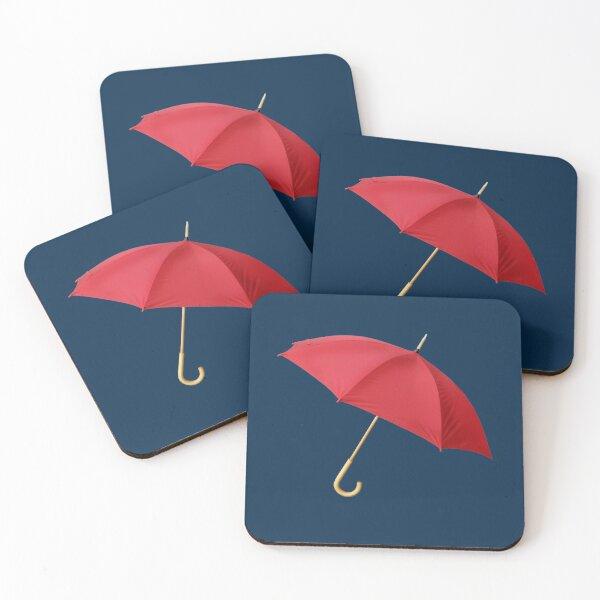 Red umbrella Coasters (Set of 4)