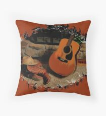 """""""Leather, Wood, Strings, and Straw""""... prints and products Throw Pillow"""