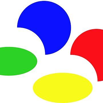 Super Nintendo SNES four colors quadcolor by UnitShifter