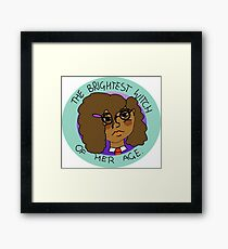 The Brightest Witch Of Her Age Hermione Granger Framed Print