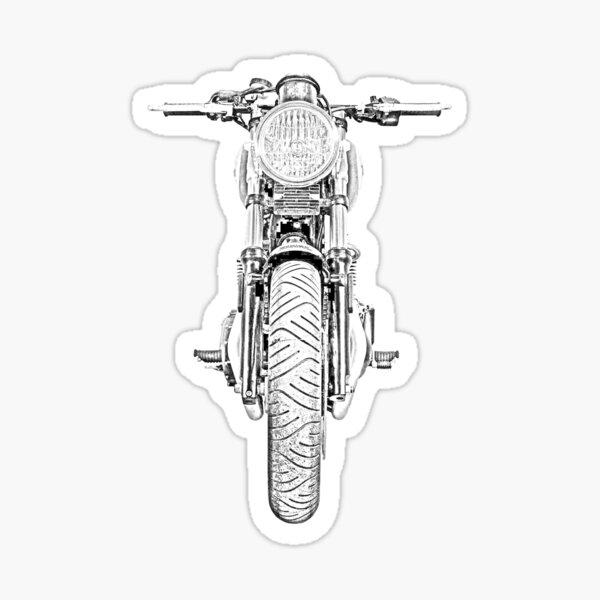 Motorcycle Front Sticker