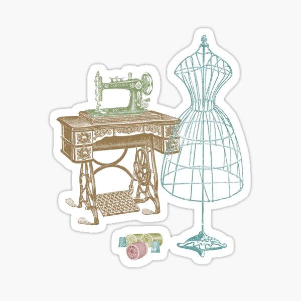Dressmaker Kit of Dress Form, Sewing Machine and T Sticker