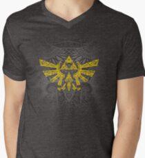 Hyrule Emblem Yellow Men's V-Neck T-Shirt