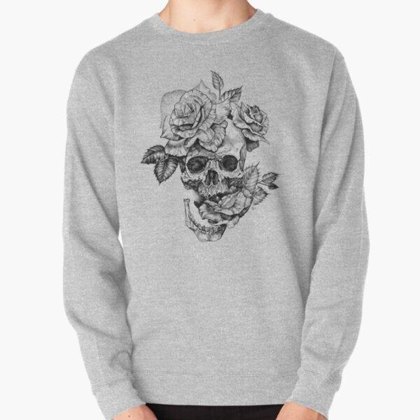Skull And Roses Pullover Sweatshirt