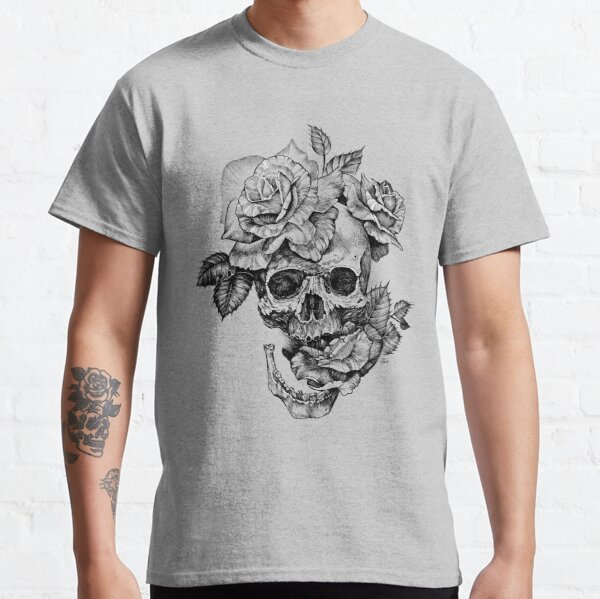 Skull And Roses Classic T-Shirt