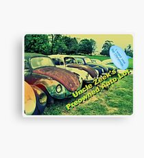 """Uncle Zeek's Preowned Auto Lot""... prints and products Canvas Print"