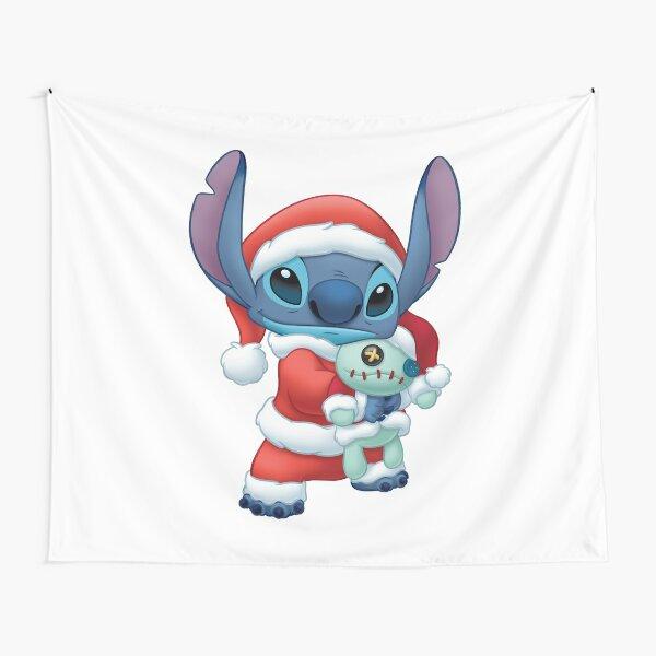 Santa Lilo & Stitch Navidad Tela decorativa