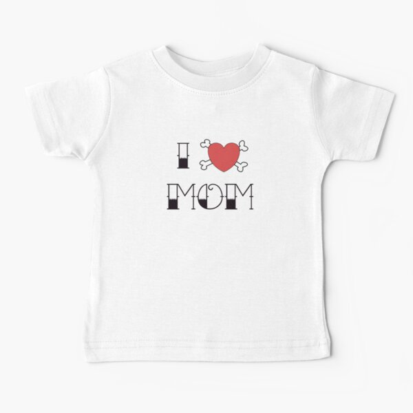 I (Love) Heart Mom Tattoo Camiseta para bebés