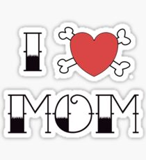 I (Love) Heart Mom Tattoo Sticker
