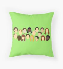 The Office Heads Throw Pillow