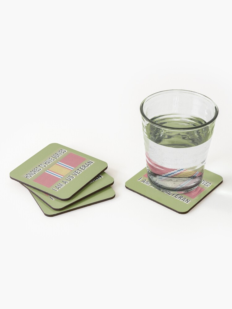 Alternate view of HONORED TO SERVE YOU Coasters (Set of 4)