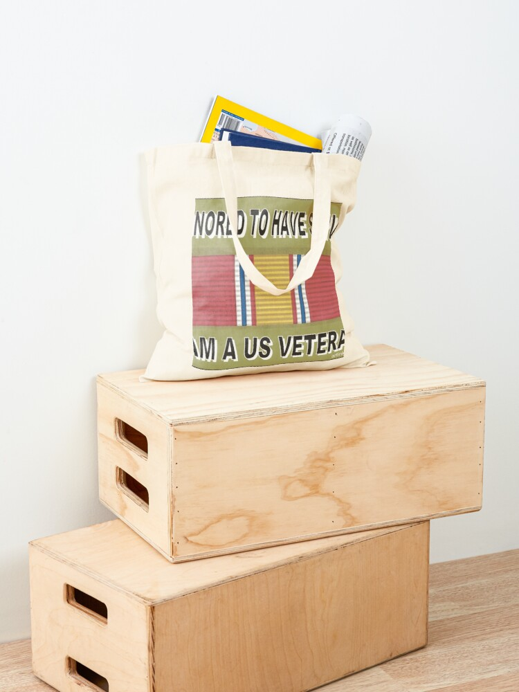 Alternate view of HONORED TO SERVE YOU Tote Bag