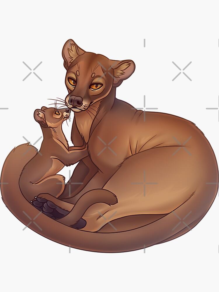 Fossa & Cub by Mr-Lemur