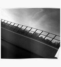 Grey Scale Bridge  Poster