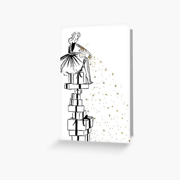 Christmas Stardust Greeting Card