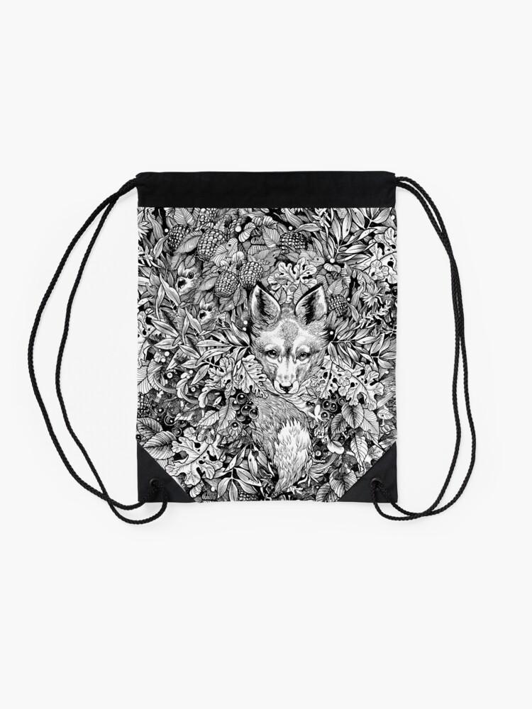Alternate view of Hiding fox Drawstring Bag