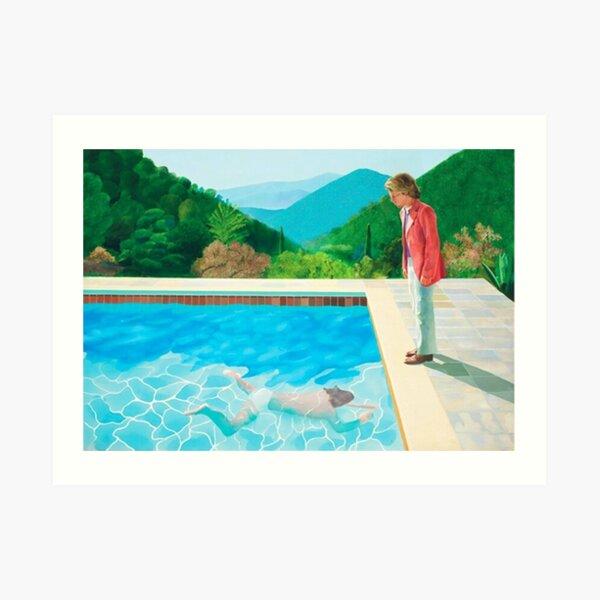 David Hockney Pool - deux chiffres Impression artistique