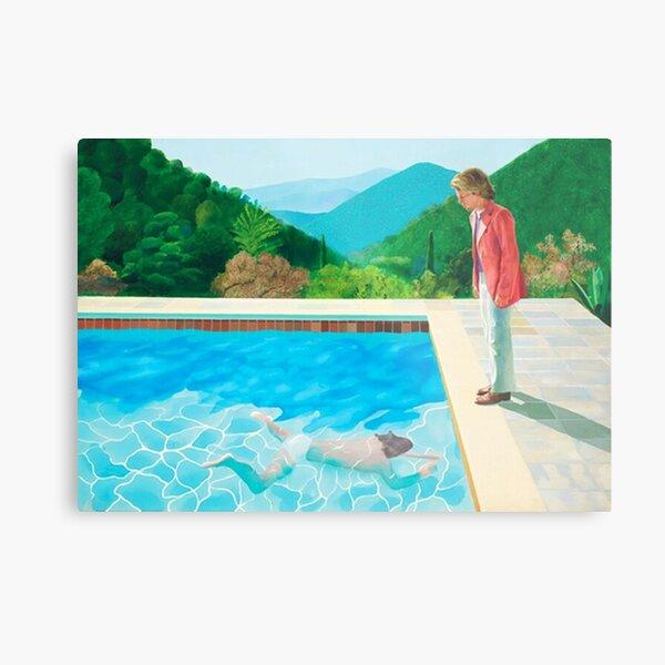 david hockney pool - two figures Metal Print