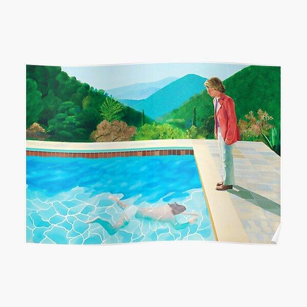 piscina david hockney - dos figuras Póster