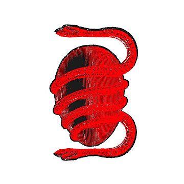 Thirdworlds Snake Sticker by deathgripz