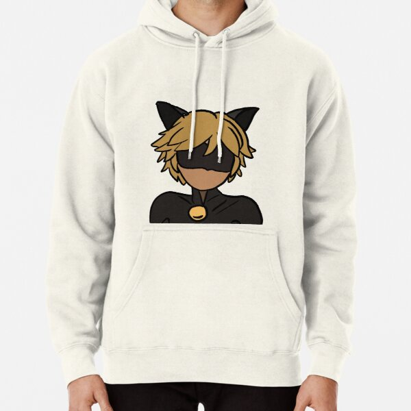Chat Noir (colour) Pullover Hoodie