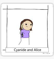 Cyanide and Alice Sticker