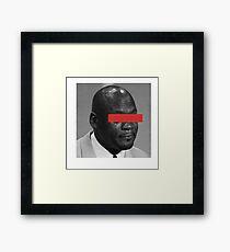 MJ Crying Meme - Red Eyes Framed Print