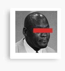 MJ Crying Meme - Red Eyes Canvas Print