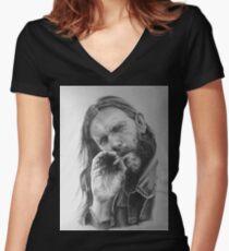 Rip Lemmy - madun Women's Fitted V-Neck T-Shirt