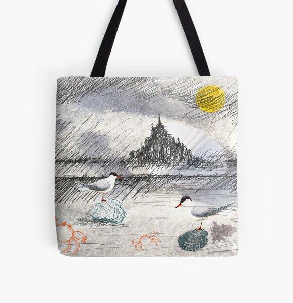 mont saint michel 2 All Over Print Tote Bag