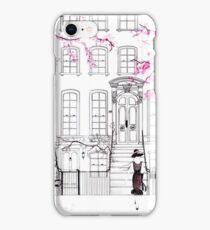 Holly Hailing a Cab iPhone Case/Skin