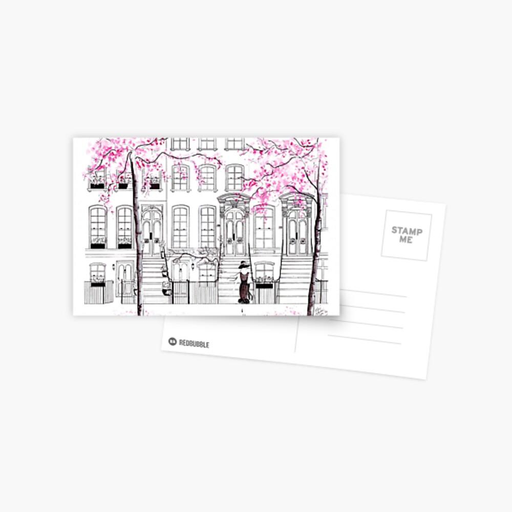 Holly Hailing a Cab Postcard