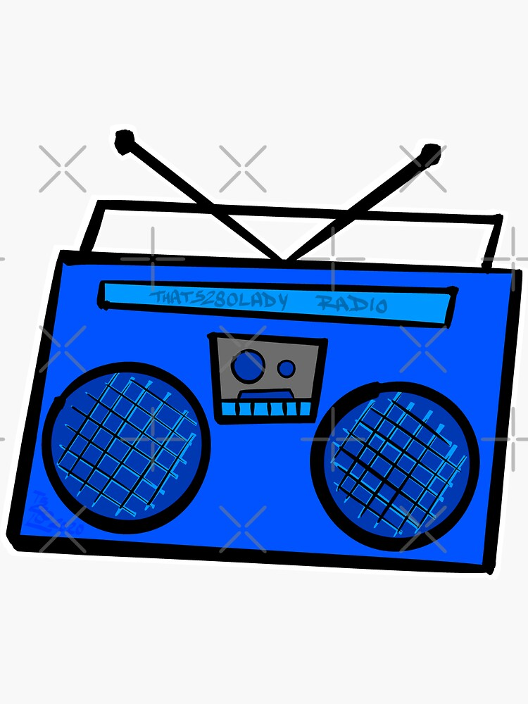 Blue Boombox by that5280lady