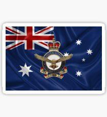 Royal Australian Air Force - RAAF Badge over Australian Flag Sticker