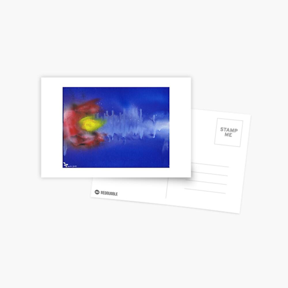 Sound Wave Flag Postcard