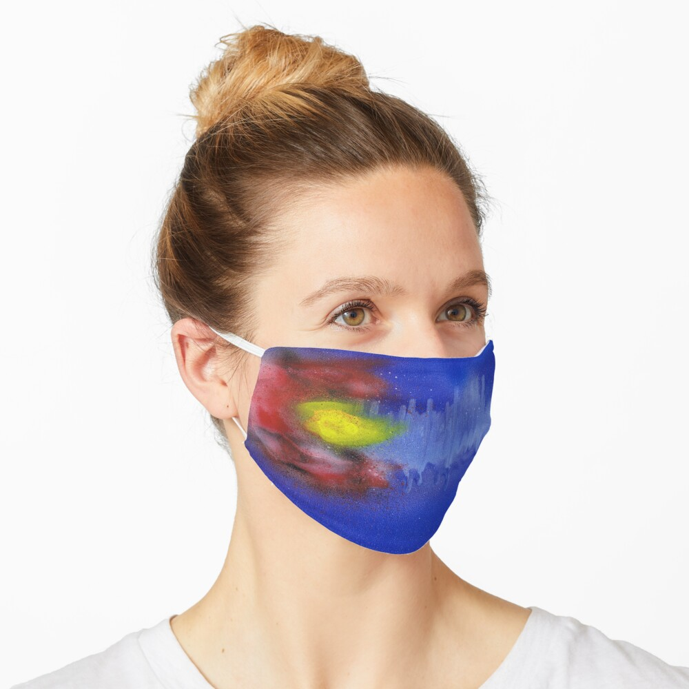 Sound Wave Flag Mask