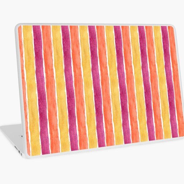 Orange and Purple Watercolour Stripe Laptop Skin