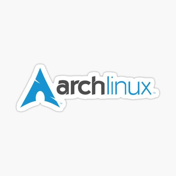 Arch Linux horizontal logo (dark) Sticker