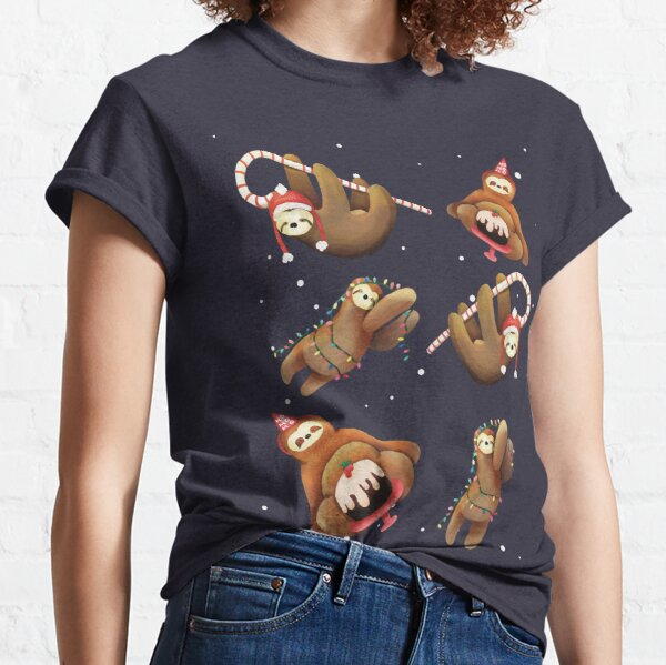 Sloth Xmas Party Time Classic T-Shirt