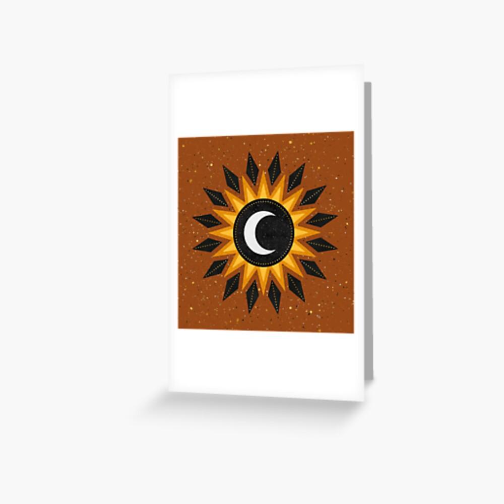 The Sun, The Moon Greeting Card