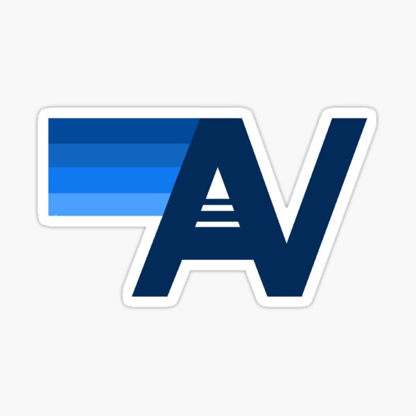 Aviator nation blue logo  Sticker
