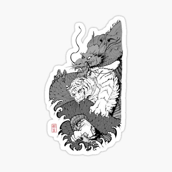 Tiger & Dragon Sticker