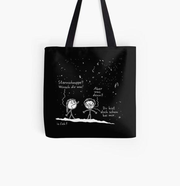 Wuenschen - islieb-Comic Allover-Print Tote Bag